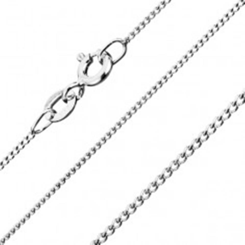 Šperky eshop Strieborná retiazka 925 - husté očká, 1 mm