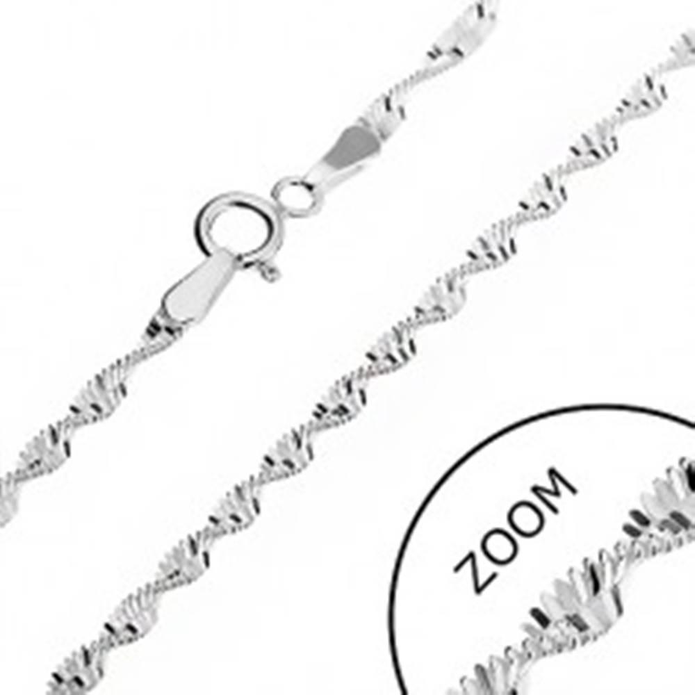 Šperky eshop Strieborná retiazka 925 - obdĺžniky v špirále, 2 mm