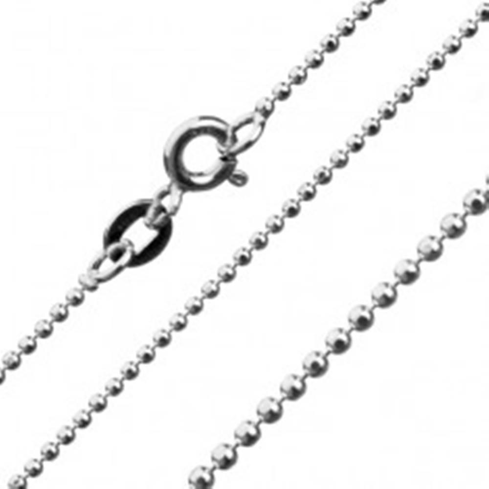 Šperky eshop Strieborná retiazka 925 - spojené trblietavé guličky, 1,2 mm