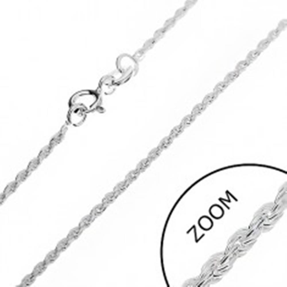 Šperky eshop Strieborná retiazka 925 - zrezaná špirála, 1,5 mm