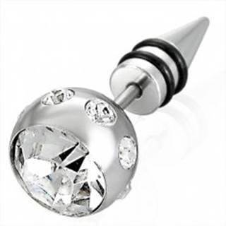 Falošný piercing veľká guľa so zirkónom