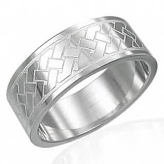 Prsteň z chirurgickej ocele - Keltský pletený vzor - Veľkosť: 54 mm