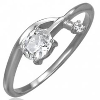Zásnubný prsteň - prepletená zirkónová šípka - Veľkosť: 52 mm