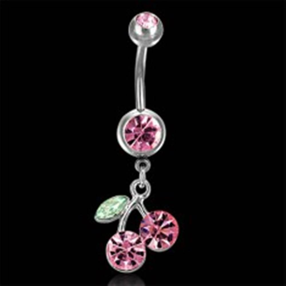 Šperky eshop Piercing brucha obojstranný s čerešňami