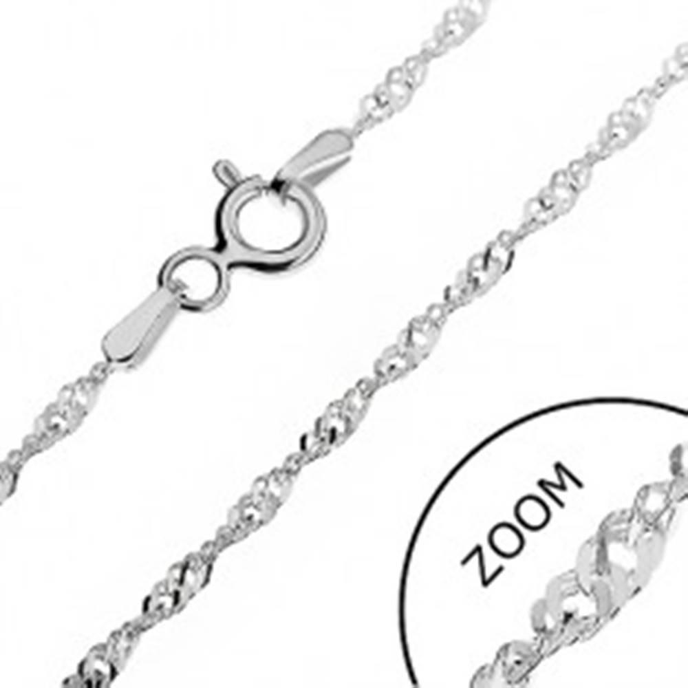 Šperky eshop Retiazka zo striebra 925 - husté ploché očká v špirále, 1,8 mm