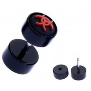 Okrúhly fake piercing do ucha z akrylu - symbol biohazardu
