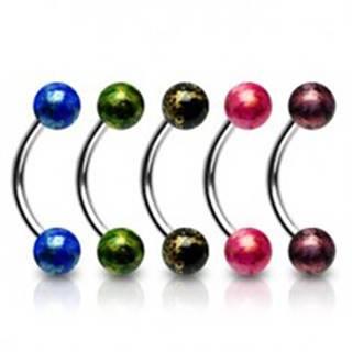 Piercing do obočia akrylové guličky - Farba piercing: Červená