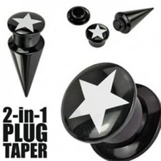 Plug a taper čierny  STAR - Hrúbka: 10 mm