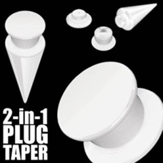 Taper a plug 2 v 1 biely - Hrúbka: 10 mm