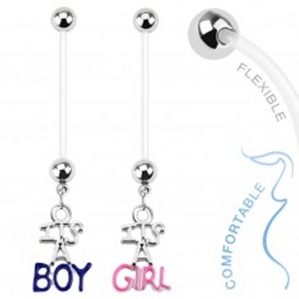 """Šperky eshop Piercing do bruška z bioflexu pre tehotné ženy, """"IT&"""