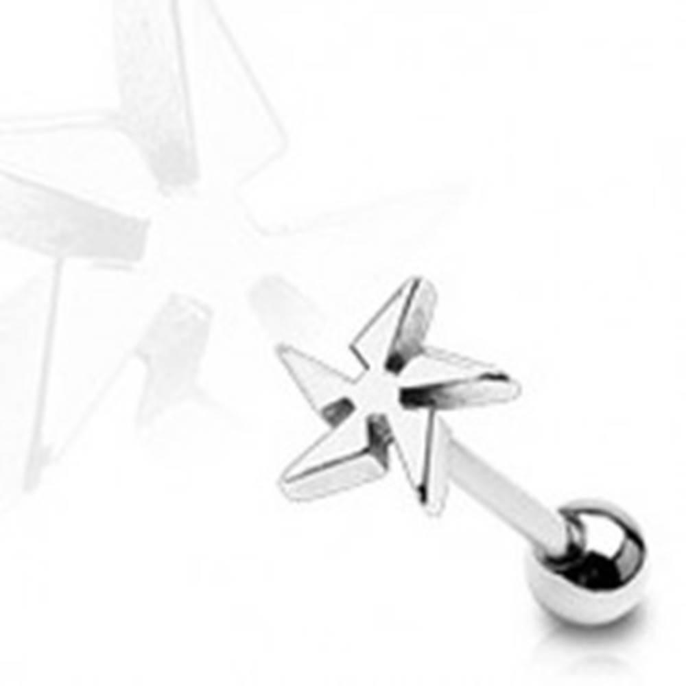 Šperky eshop Piercing do jazyka vrhacia hviezda