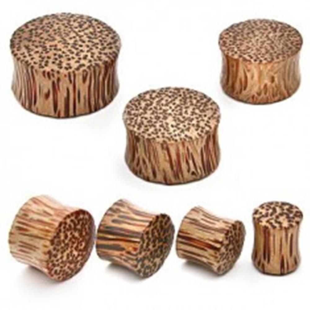 Šperky eshop Plug do ucha - kokosové drevo - Hrúbka: 10 mm