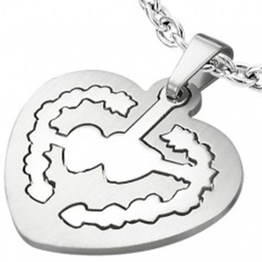 Šperky eshop Srdcový prívesok známka