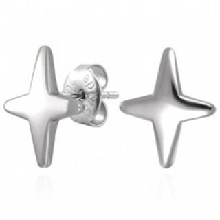 Náušnice z ocele 316L v striebornom odtieni - hviezda