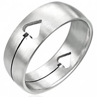 Oceľový prsteň Pikový list - Veľkosť: 50 mm