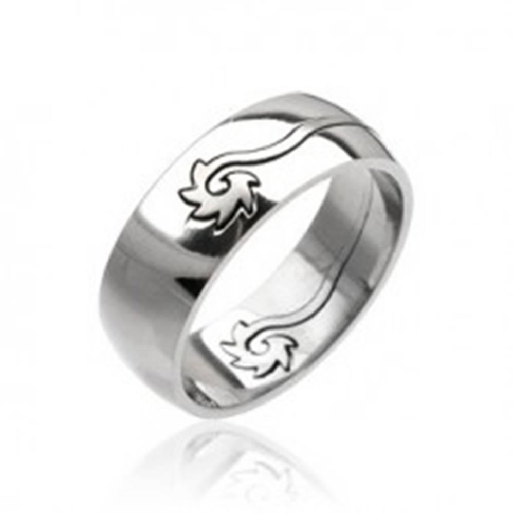 Šperky eshop Oceľový prsteň - stočený disk - Veľkosť: 59 mm