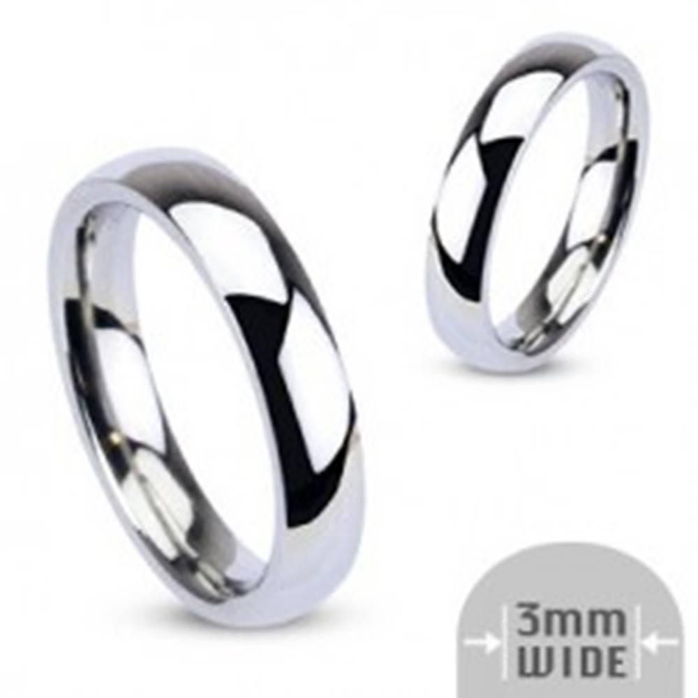 Šperky eshop Obrúčka z chirurgickej ocele, strieborná farba, zrkadlový lesk, 3 mm  - Veľkosť: 48 mm