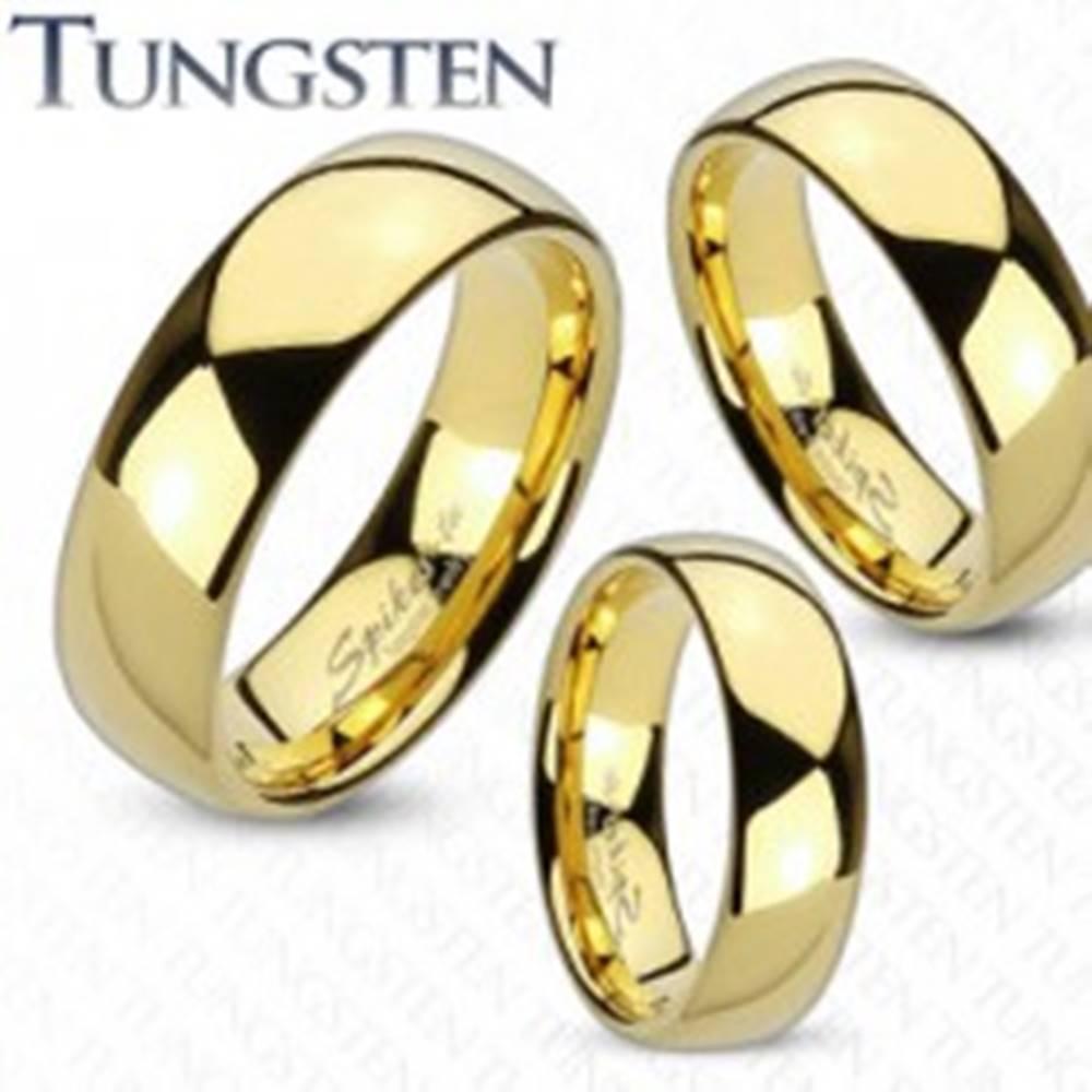 Šperky eshop Obrúčka z volfrámu zlatej farby, lesklý a hladký povrch, 4 mm - Veľkosť: 48 mm
