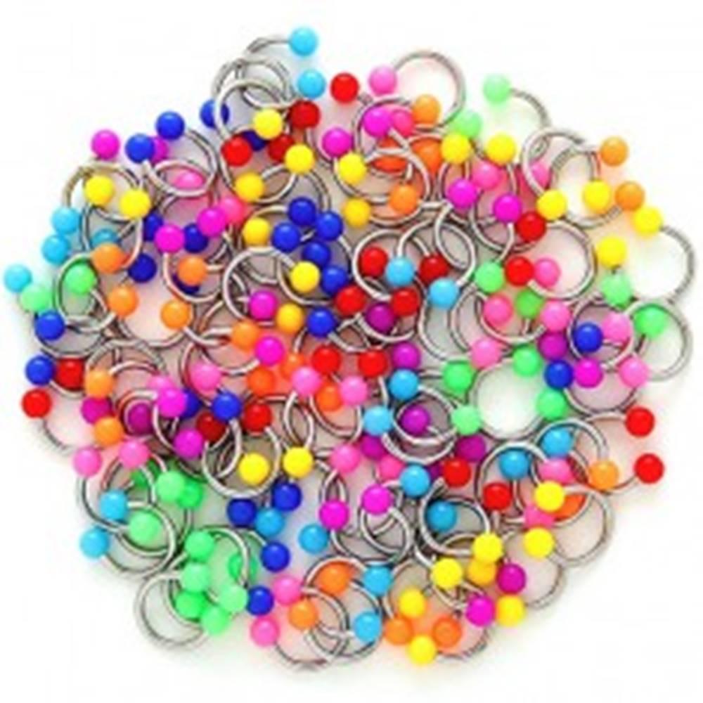 Šperky eshop Piercing podkova s dvoma guličkami - Farba piercing: Červená