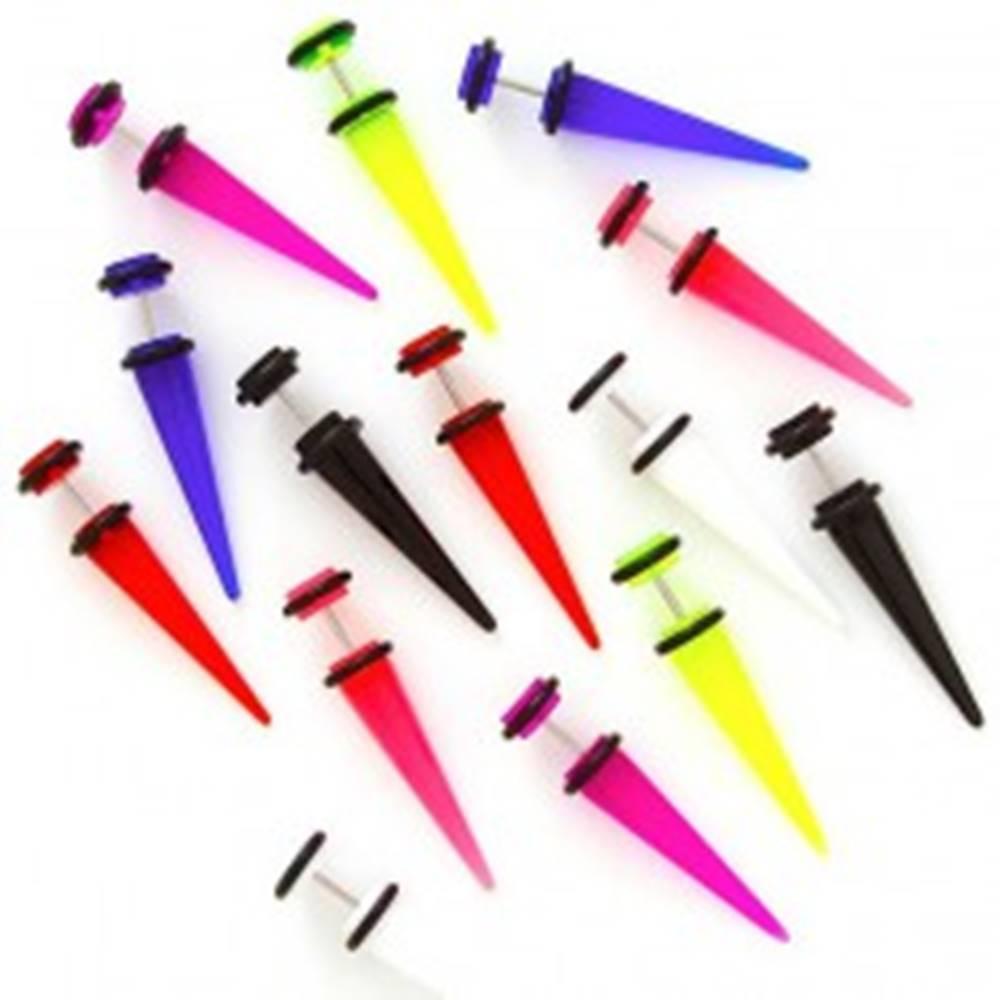 Šperky eshop Taper do ucha rôzne farby s gumičkami - Farba piercing: Biela