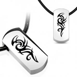 Náhrdelník s príveskom z ocele - symbol TRIBAL