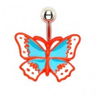 Piercing do pupku - liaty retro motýľ