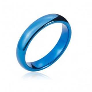 Wolfrámová obrúčka s oblými hranami, tmavo modrá, 4 mm - Veľkosť: 47 mm