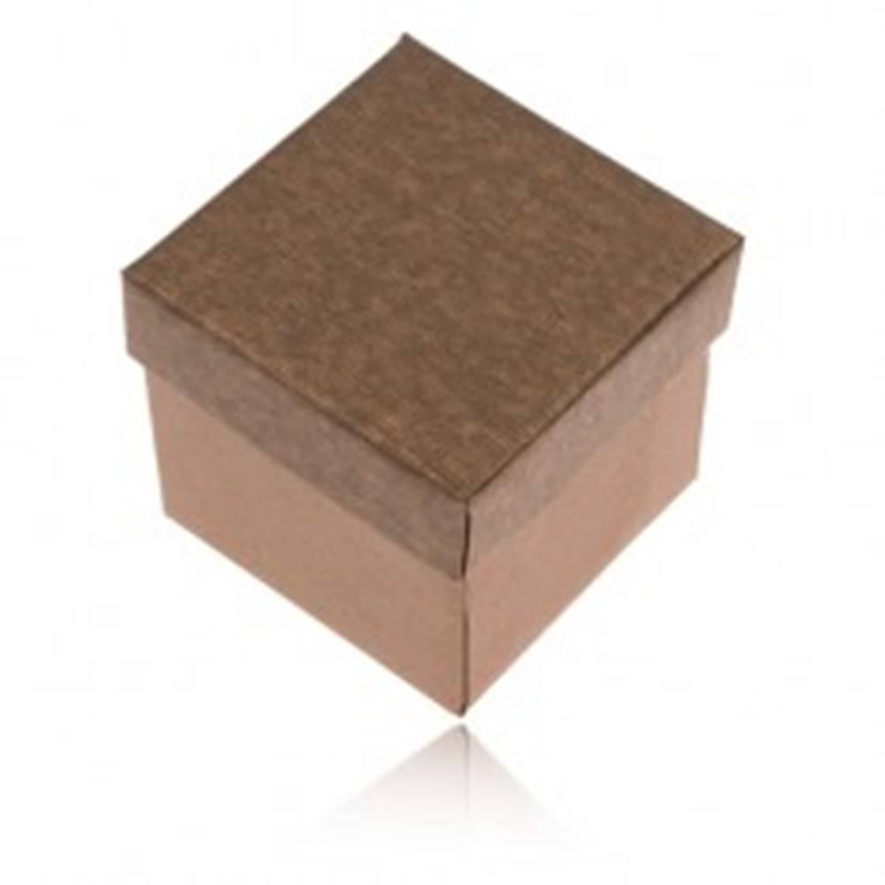 Šperky eshop Matná krabička na prsteň, náušnice a prívesok v bronzovom odtieni