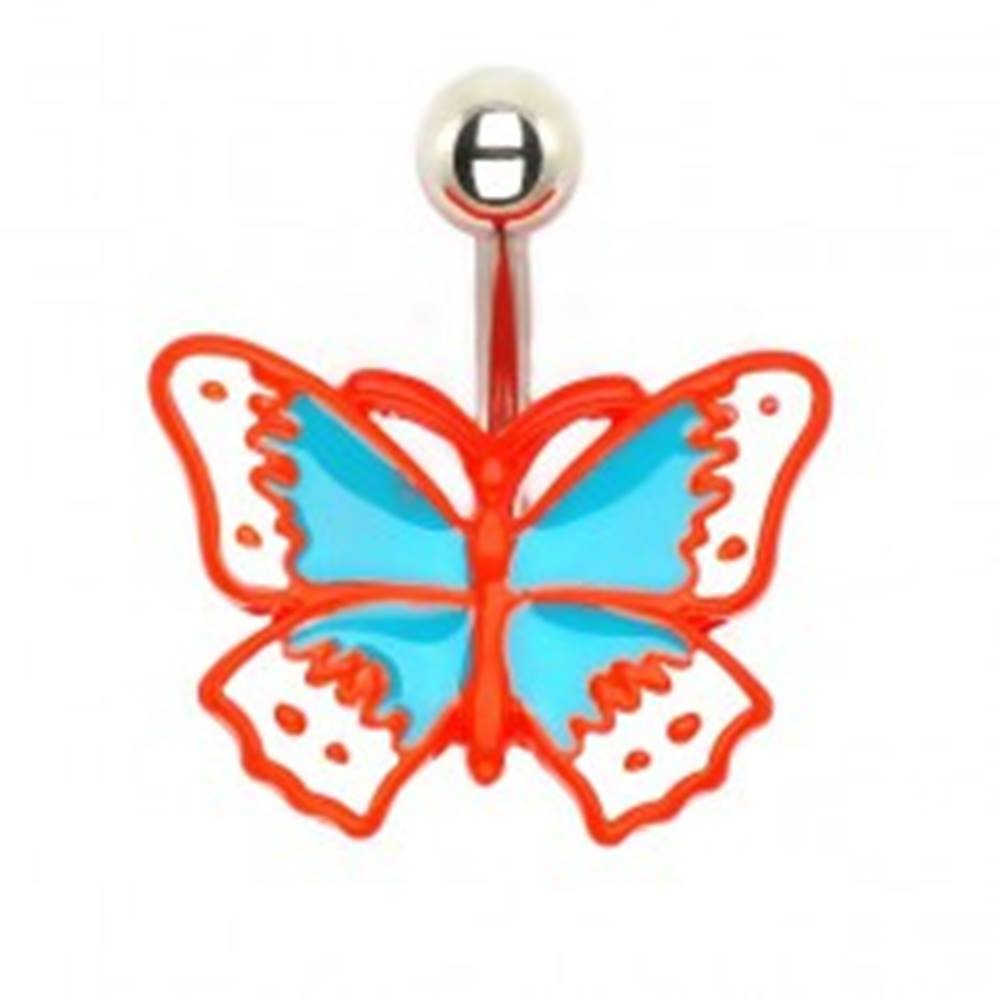 Šperky eshop Piercing do pupku - liaty retro motýľ