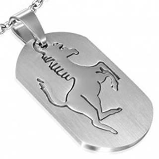 Prívesok z ocele - známka s koníkom