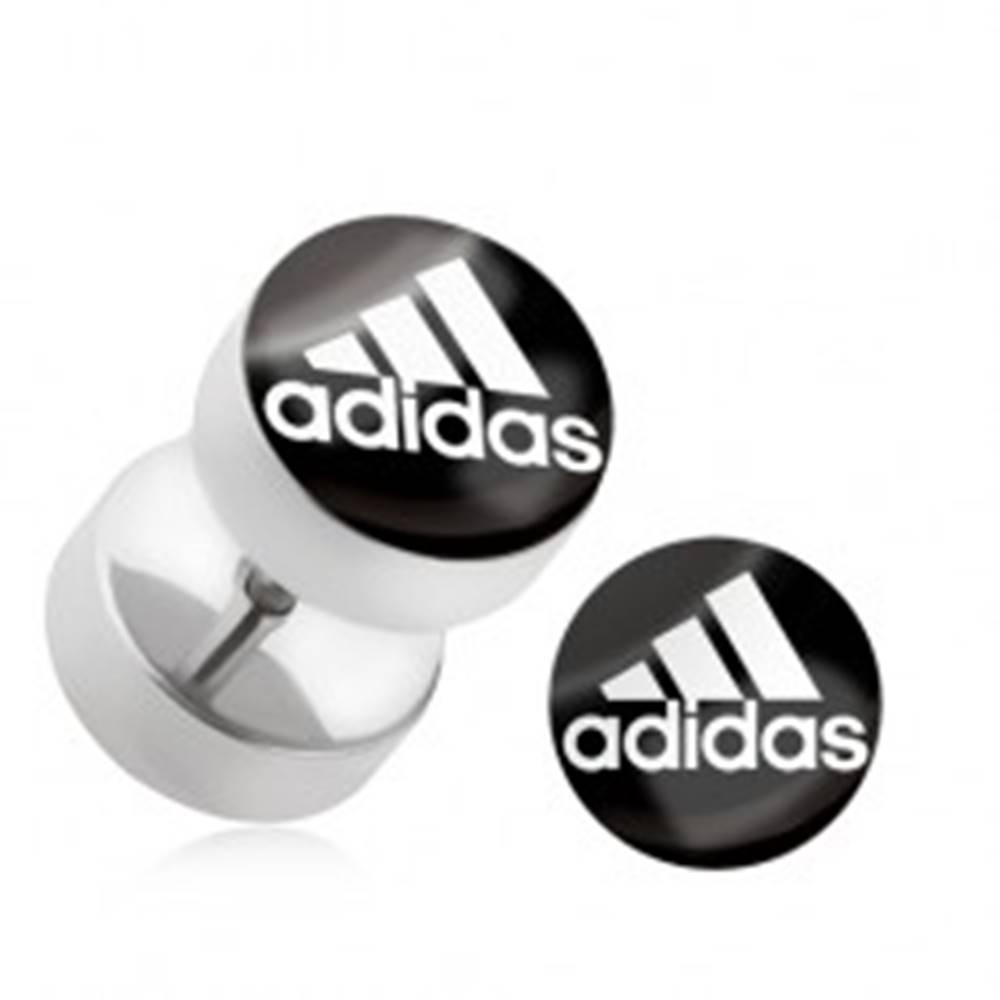 Šperky eshop Falošný plug do ucha z chirurgickej ocele, logo športovej značky