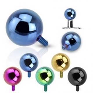 Gulička do implantátu z ocele 316L - anodizovaný povrch, rôzne farby, 5 mm - Farba piercing: Zelená