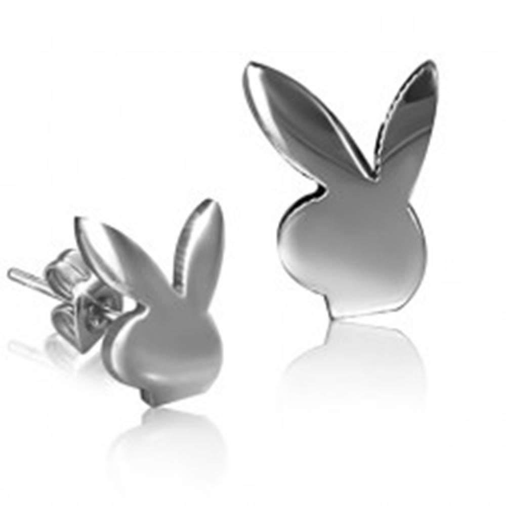 Šperky eshop Puzetové náušnice zajačik z chirurgickej ocele