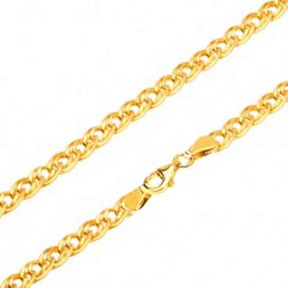 Šperky eshop Retiazka zo žltého 14K zlata - elipsovité väčšie a menšie očko, 500 mm