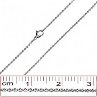 Oceľová retiazka - kolmo schytené ploché očká - Hrúbka: 1.5 mm