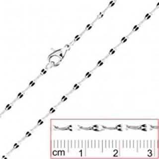 Retiazka z ocele - oválne očká so splošteným stredom