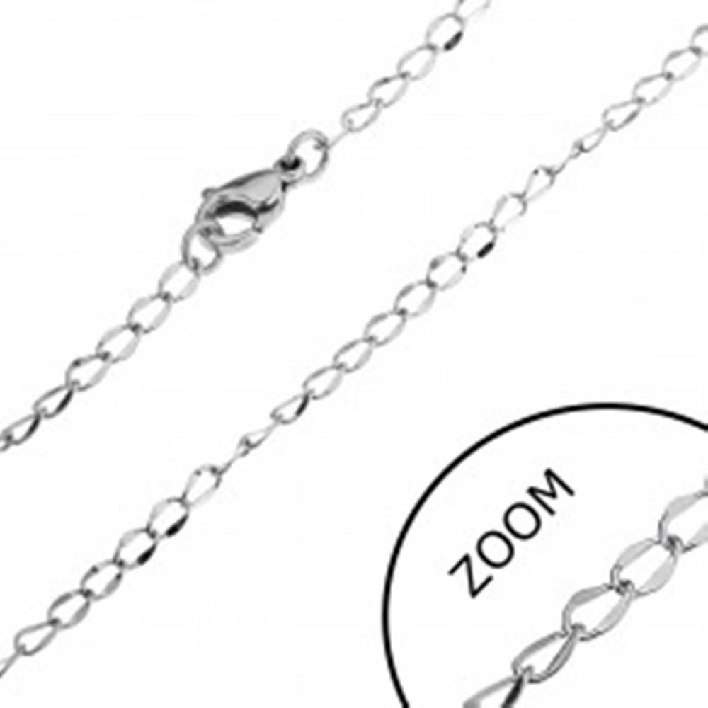 Šperky eshop Oceľová retiazka - oválne očká, sploštený stred