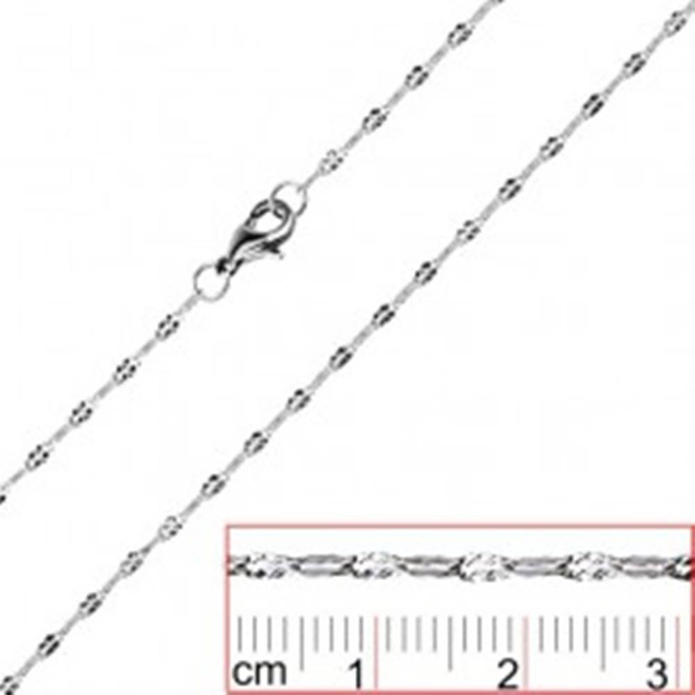 Šperky eshop Oceľová retiazka - sploštené očká so zárezmi X