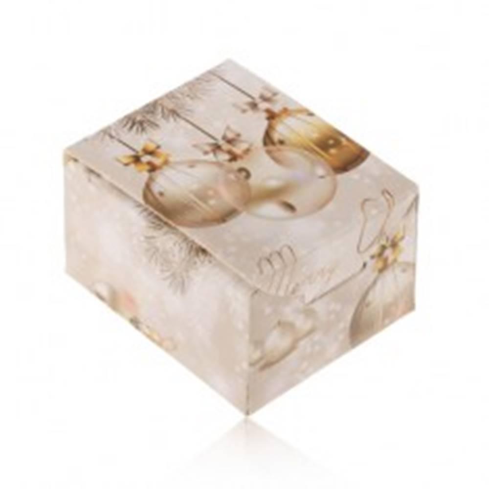 Šperky eshop Vianočná krabička na darček - prsteň, náušnice alebo prívesok, Merry Christmas