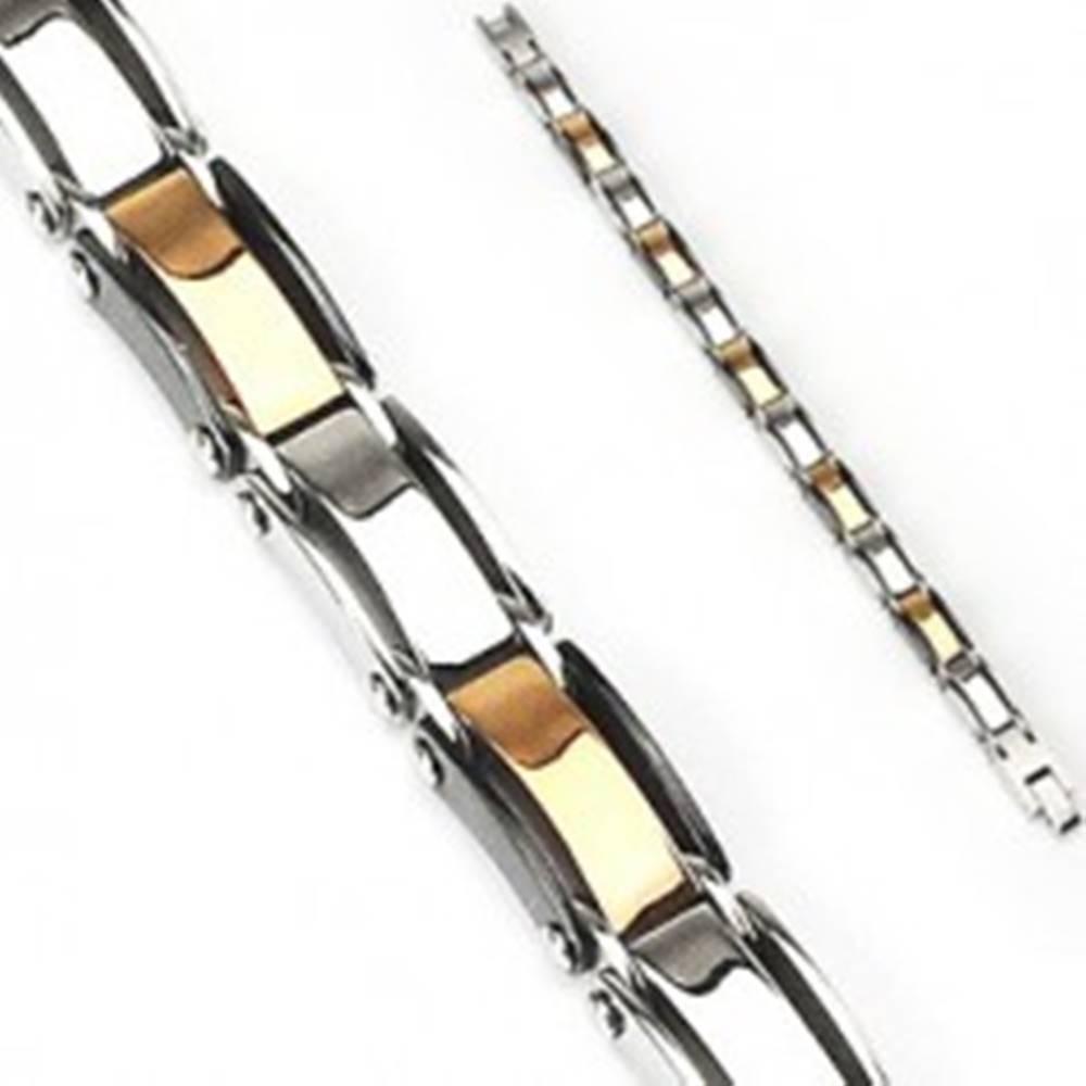 Šperky eshop Náramok z chirurgickej ocele s farebnými článkami