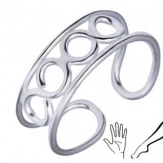 Strieborný prsteň 925 na nohu alebo ruku so štyrmi očkami