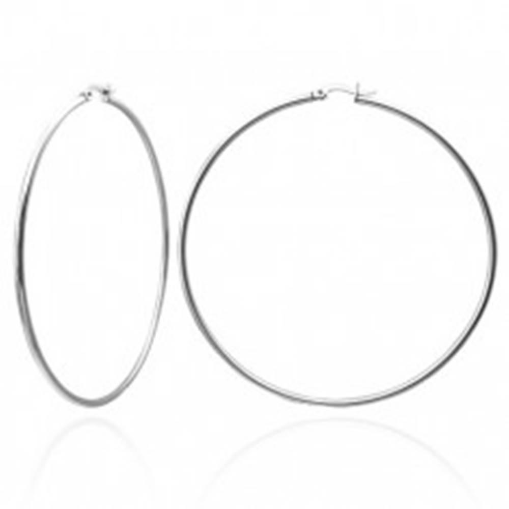 Šperky eshop Náušnice z chirurgickej ocele, obruče, strieborná farba, lesklý povrch