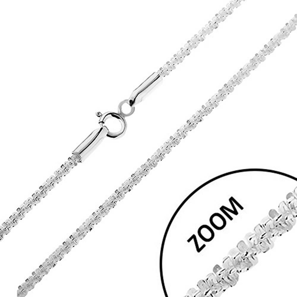 Šperky eshop Ligotavá strieborná 925 retiazka - husto spájané očká do špirály, šírka 2 mm, dĺžka 500 mm