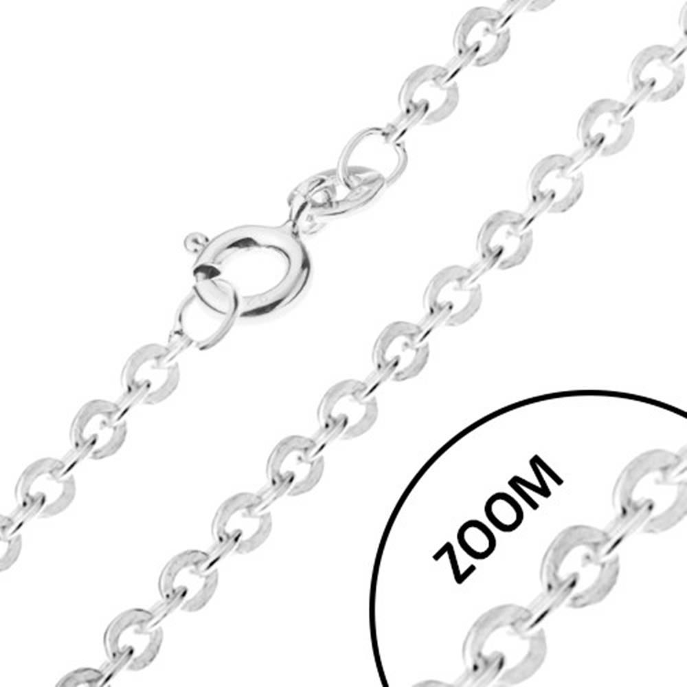 Šperky eshop Retiazka s kolmo napájanými očkami zo striebra 925, šírka 1,2 mm, dĺžka 550 mm