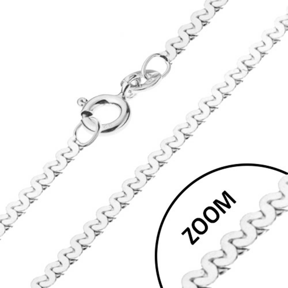 Šperky eshop Retiazka zo striebra 925 - esíčkový vzor, lesklá, šírka 1 mm, dĺžka 500 mm