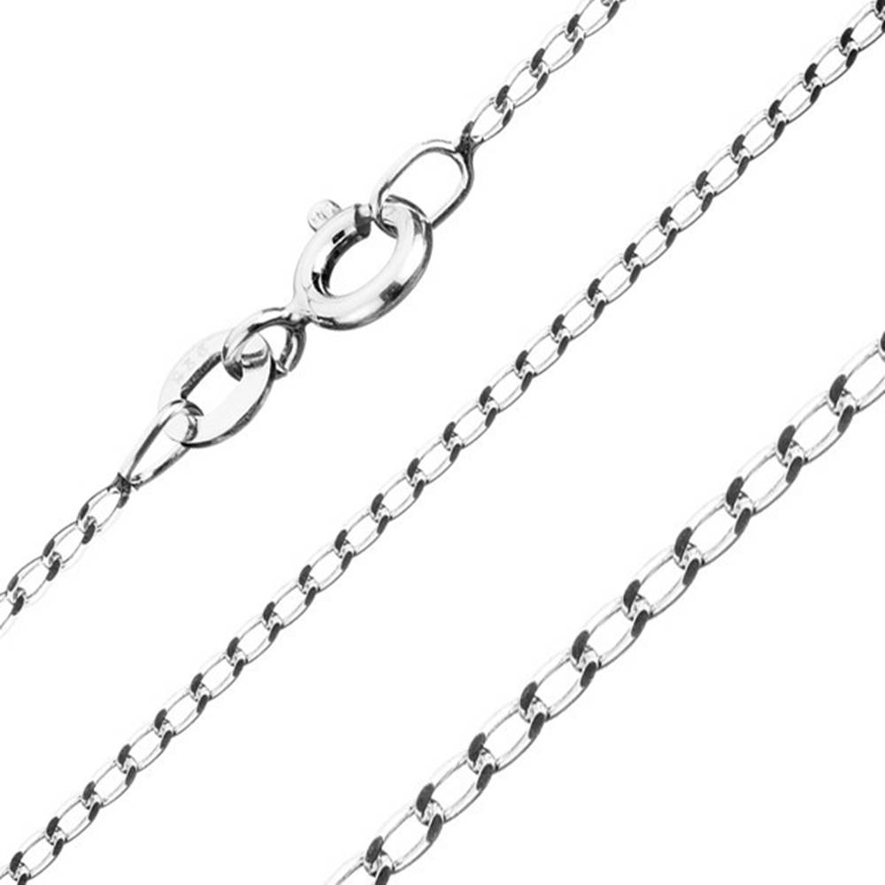 Šperky eshop Retiazka zo striebra 925 - hladké podlhovasté očká, šírka 1 mm, dĺžka 600 mm