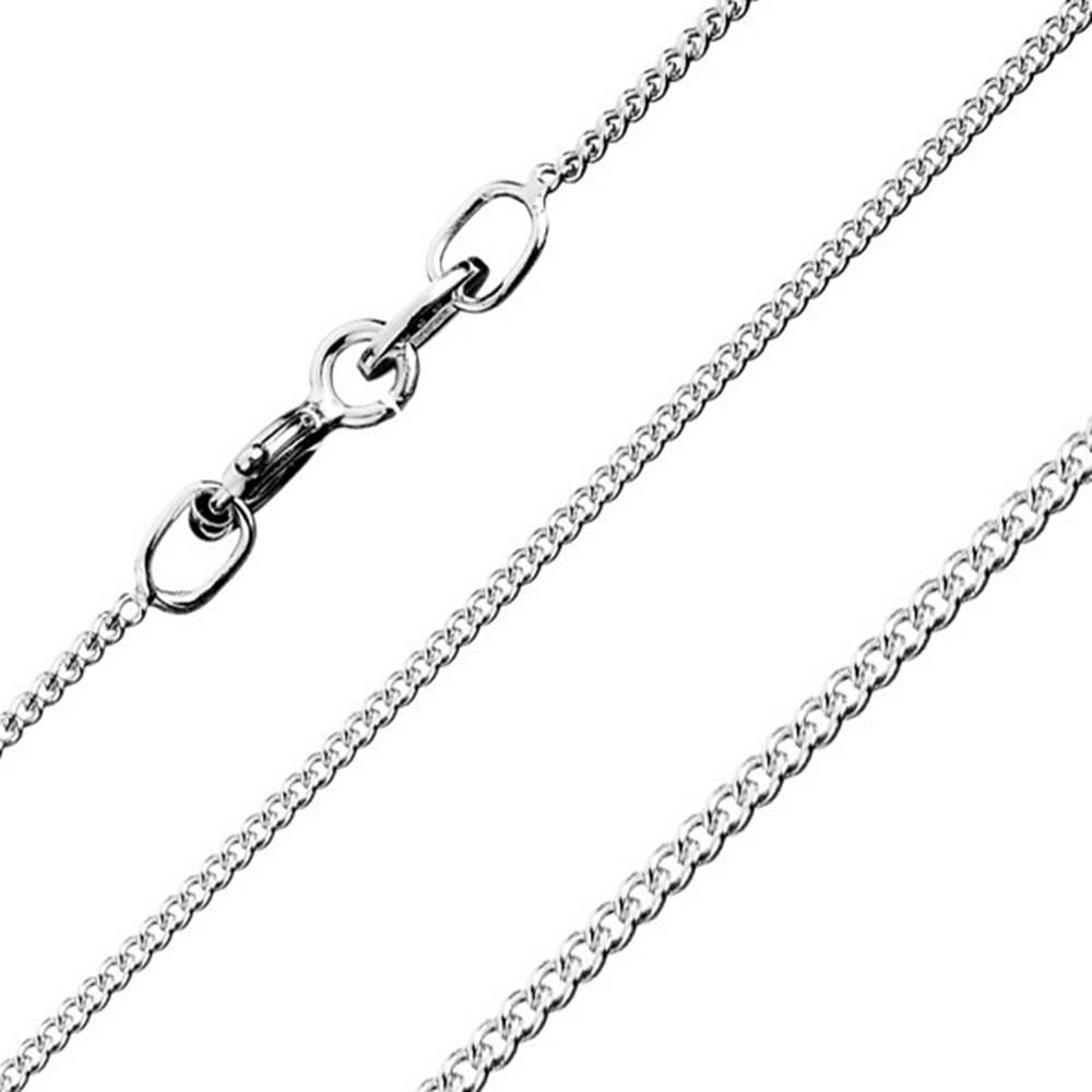 Šperky eshop Retiazka zo zatočených okrúhlych očiek, zo striebra 925, šírka 0,8 mm, dĺžka 550 mm