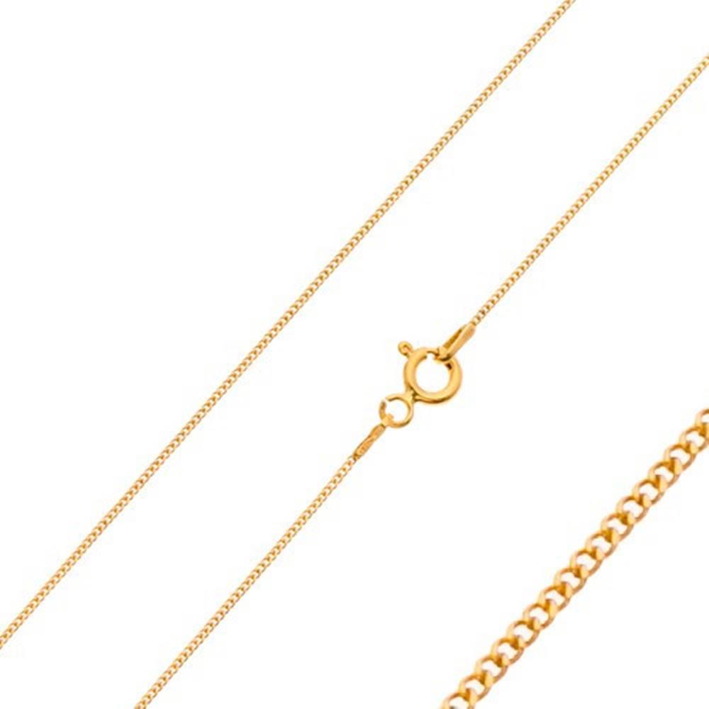 Šperky eshop Retiazka zo žltého 14K zlata - husto spájané drobné očká, 500 mm