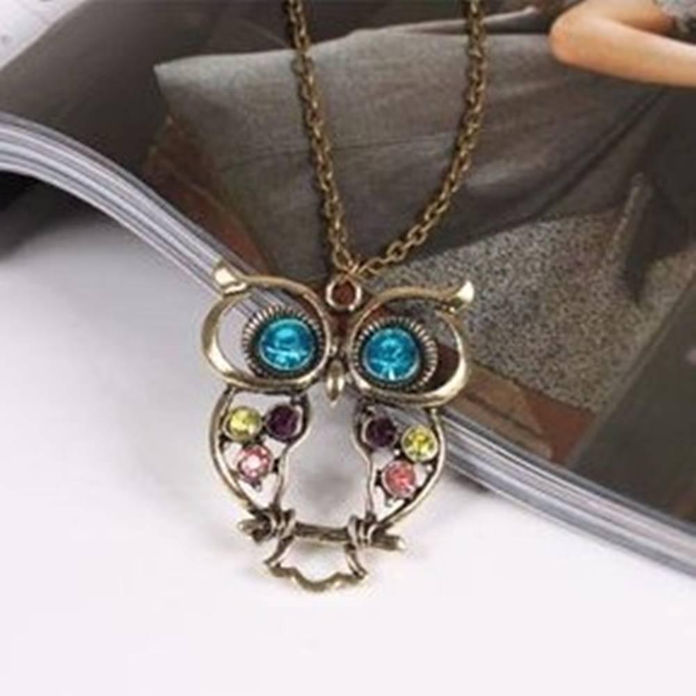 Izmael Náhrdelník Vintage Owl-Multi