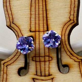 Náušnice napichovacie Kvety- Modrá